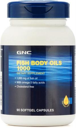GNC Fish Body Oils 1000, 90 капсул