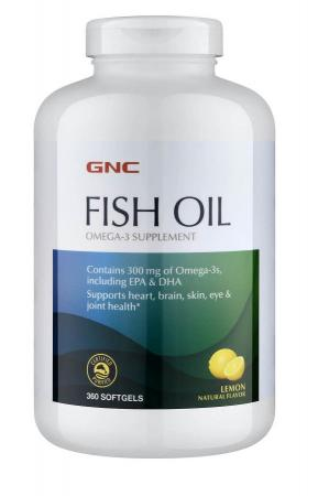 GNC Fish Oil, 360 капсул