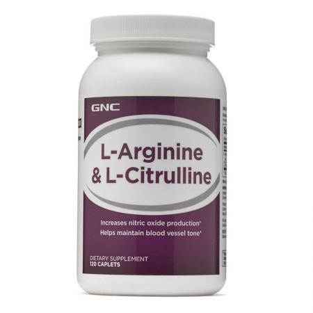 GNC L-Arginine and Citrulline, 120 капсул