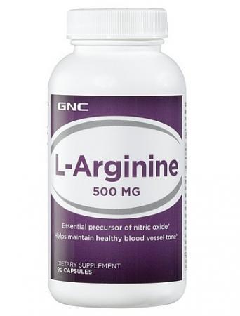 GNC L-Arginine 500, 90 капсул