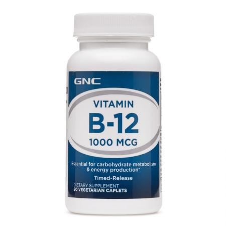 GNC Vitamin B-12 1000, 90 каплет