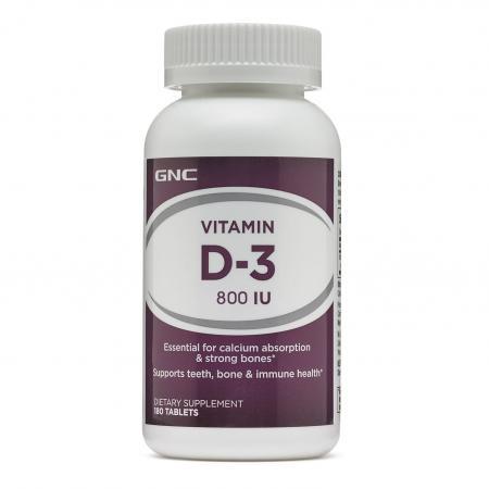 GNC Vitamin D-3 800, 180 таблеток