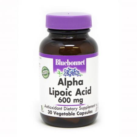 Bluebonnet Alpha Lipoic Acid 600 mg, 30 капсул