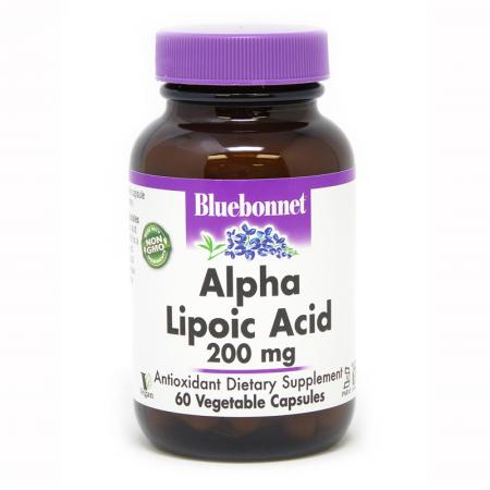 Bluebonnet Alpha Lipoic Acid 200 mg, 60 капсул