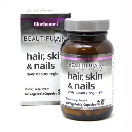 Bluebonnet Nutrition Hair, Skin & Nails, 60 капсул - Beautiful Ally