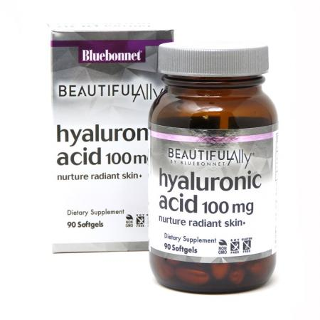 Bluebonnet Hyaluronic Acid 100 mg, 90 капсул - Beautiful Ally