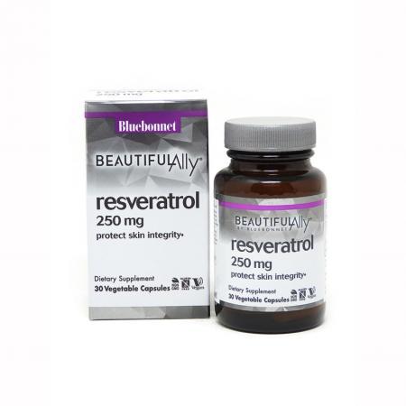 Bluebonnet Resveratrol 250 mg, 30 вегакапсул - Beautiful Ally