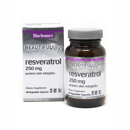 Bluebonnet Resveratrol 250 mg, 60 вегакапсул - Beautiful Ally