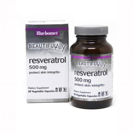 Bluebonnet Resveratrol 500 mg, 60 вегакапсул - Beautiful Ally