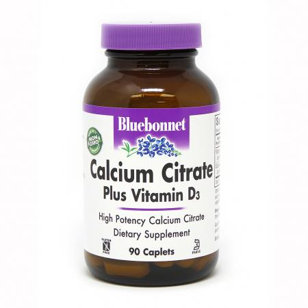 Bluebonnet Calcium Citrate plus Vitamin D3, 90 каплет