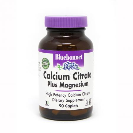 Bluebonnet Calcium Citrate Plus Magnesium, 90 капсул