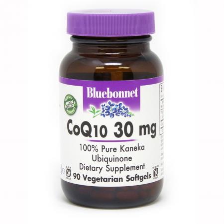 Bluebonnet CoQ10 30 mg, 90 гелевых вегакапсул