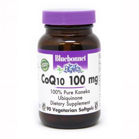 Bluebonnet CoQ10 100 mg, 90 гелеавых вегакапсул