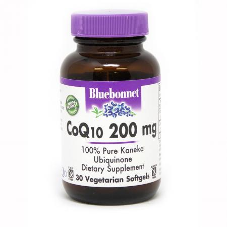 Bluebonnet CoQ10 200 mg, 30 гелеавых вегакапсул