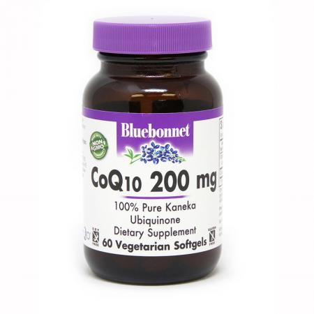 Bluebonnet CoQ10 200 mg, 60 гелеавых вегакапсул