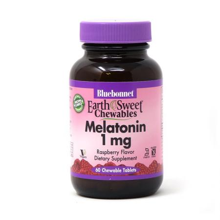Bluebonnet Earth Sweet Chewables Melatonin 1 mg, 60 жевательных таблеток