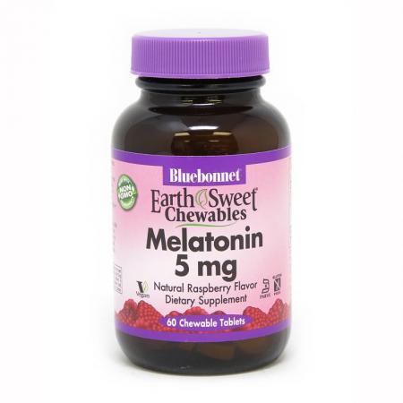Bluebonnet Earth Sweet Chewables Melatonin 5 mg, 60 жевательных таблеток