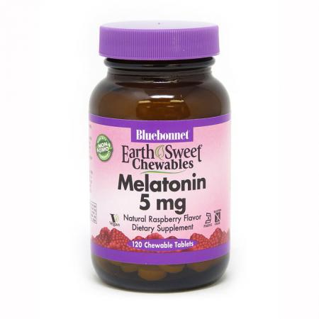 Bluebonnet Earth Sweet Chewables Melatonin 5 mg, 120 жевательных таблеток