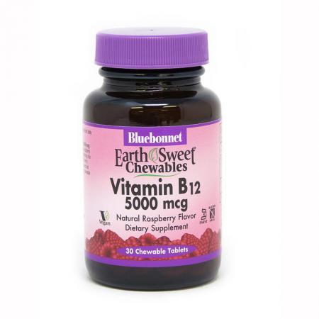 Bluebonnet Earth Sweet Chewables Vitamin В12 5000 mcg, 30 жевательных таблеток