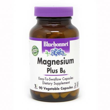 Bluebonnet Nutrition Magnesium plus B6, 90 вегакапсул