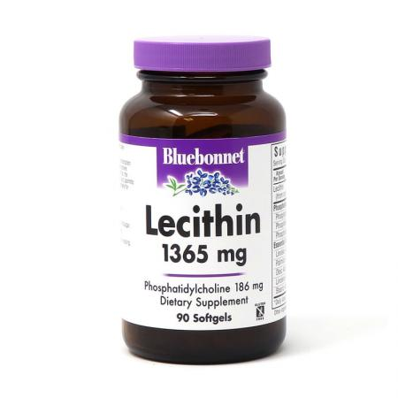 Bluebonnet Natural Lecithin 1365 mg, 90 капсул