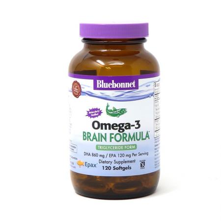 Bluebonnet Omega-3 Brain Formula, 120 капсул