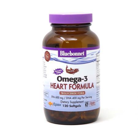 Bluebonnet Omega-3 Heart Formula, 120 капсул