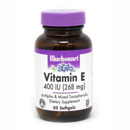 Bluebonnet Vitamin E 400IU, 50 капсул