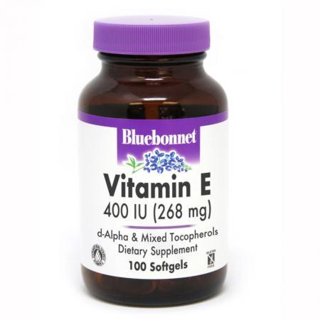 Bluebonnet Vitamin E 400IU, 100 капсул