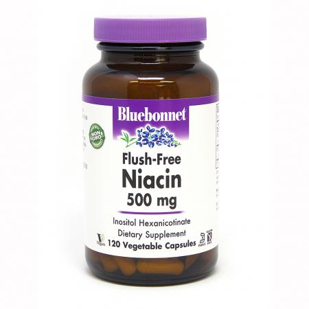 Bluebonnet Niacin Flush-Free 500 mg, 120 капсул