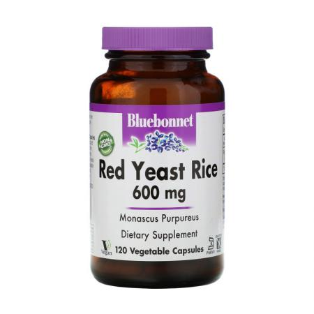 Bluebonnet Red Yeast Rice 600 mg, 120 вегакапсул