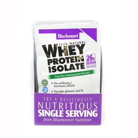 Bluebonnet 100% Natural Whey Protein Isolate 8 Packets, 264 грамм