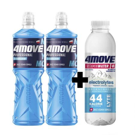 4MOVE Isotonic Drink 750 мл x2 + 4MOVE Vitamin Water Electrolyte 556 мл, SALE