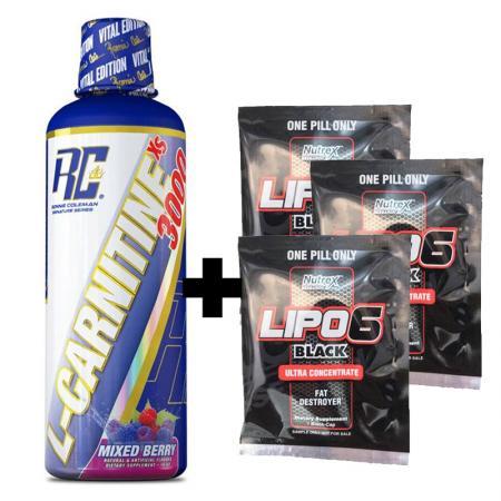 Ronnie Coleman L-Carnitine-XS Liquid 465 мл + пробники Lipo-6 x3 шт, SALE