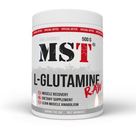 MST Glutamine RAW, 500 грамм