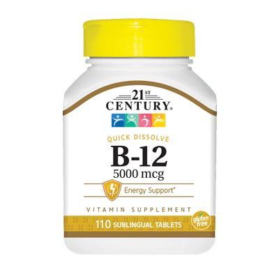 21st Century B-12 5000 mcg, 110 таблеток