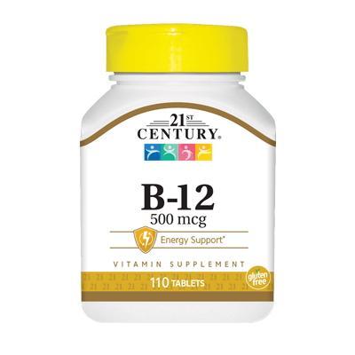 21st Century B-12 500 mcg, 110 таблеток