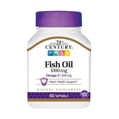 21st Century Fish Oil Omega-3 1000 mg, 60 капсул