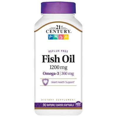 21st Century Fish Oil 1200 mg, 90 капсул