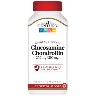 21st Century Glucosamine Chondroitin, 200 капсул