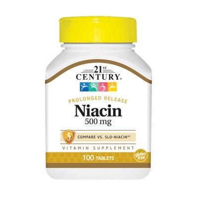 21st Century Niacin 500 mg, 100 таблеток