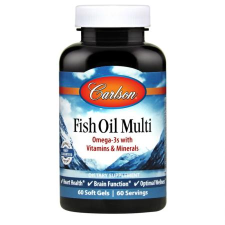 Carlson Labs Fish Oil Multi, 60 капсул