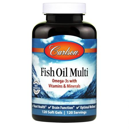 Carlson Labs Fish Oil Multi, 120 капсул