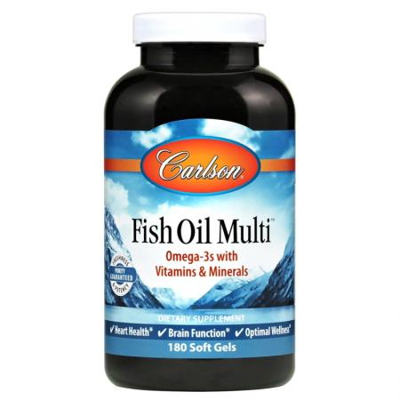 Carlson Labs Fish Oil Multi, 180 капсул