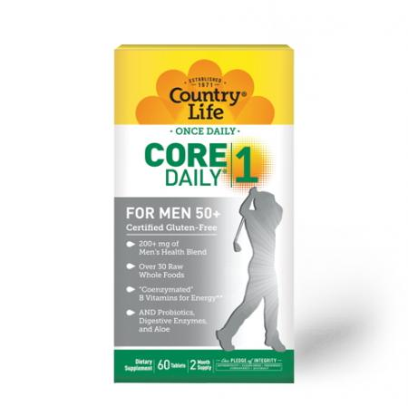 Country Life Core Daily-1 for Men 50+, 60 таблеток