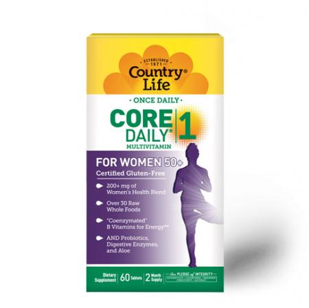 Country Life Core Daily-1 for Women 50+, 60 таблеток