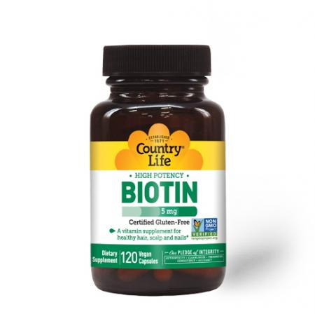 Country Life High Potency Biotin 5 mg, 120 капсул
