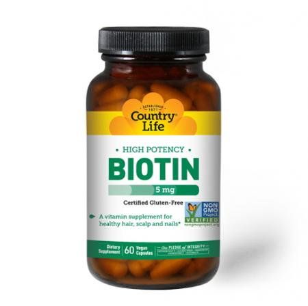 Country Life High Potency Biotin 5 mg, 60 капсул