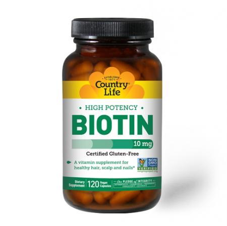 Country Life High Potency Biotin 10 mg, 120 капсул