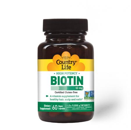 Country Life High Potency Biotin 10 mg, 60 капсул